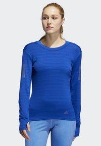 adidas Performance - RISE UP N RUN LONG-SLEEVE TOP - T-shirt de sport - blue - 0