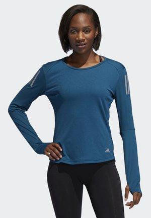OWN THE RUN LONG-SLEEVE TOP - T-shirt de sport - blue
