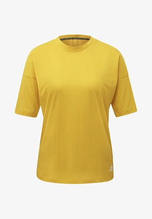 MUST HAVES 3-STRIPES T-SHIRT - T-shirt med print - yellow