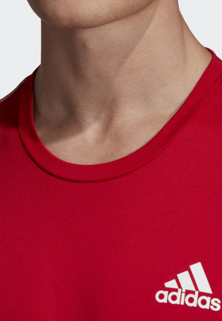 shirtDe Adidas 3 Performance stripes T Red Club Sport D2HE9I