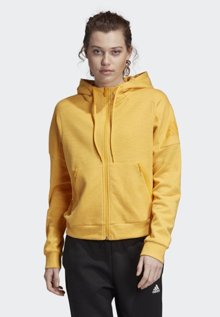 adidas Performance - ID MÉLANGE HOODIE - Sudadera con cremallera - yellow