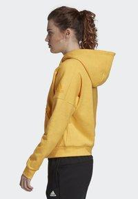adidas Performance - ID MÉLANGE HOODIE - Hettejakke - yellow - 2