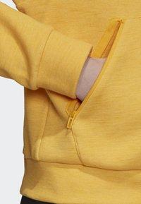 adidas Performance - ID MÉLANGE HOODIE - Sudadera con cremallera - yellow - 4