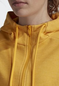 adidas Performance - ID MÉLANGE HOODIE - Sudadera con cremallera - yellow - 3