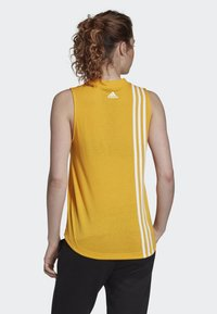 adidas Performance - MUST HAVES 3-STRIPES TANK TOP - T-shirt de sport - yellow - 1