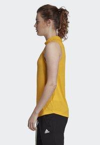 adidas Performance - MUST HAVES 3-STRIPES TANK TOP - T-shirt de sport - yellow - 2