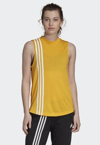adidas Performance - MUST HAVES 3-STRIPES TANK TOP - T-shirt de sport - yellow - 0