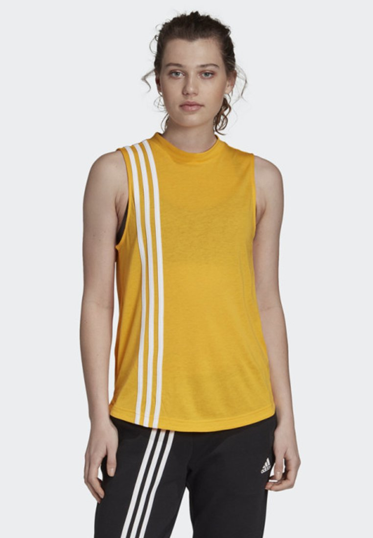 adidas Performance - MUST HAVES 3-STRIPES TANK TOP - T-shirt de sport - yellow