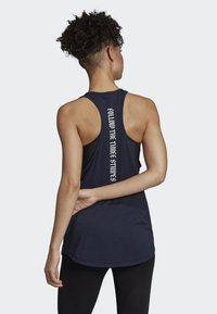 adidas Performance - OWN THE RUN BADGE OF SPORT TANK TOP - Sports shirt - blue