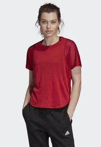 adidas Performance - ID MESH T-SHIRT - T-shirt print - red - 0