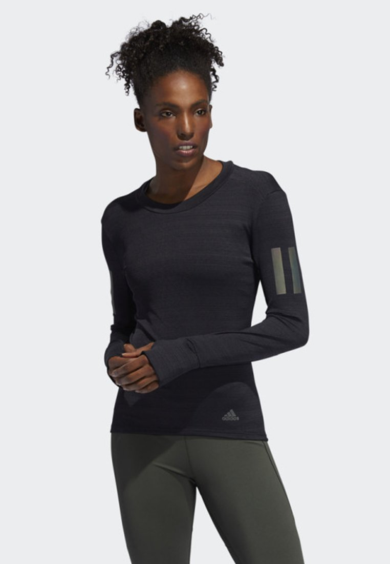 adidas Performance - RISE UP N RUN LONG-SLEEVE TOP - Treningsskjorter - black