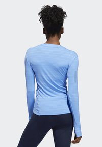 adidas Performance - RISE UP N RUN LONG-SLEEVE TOP - Funktionströja - blue - 2