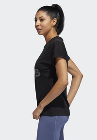 adidas Performance - BADGE OF SPORT T-SHIRT - T-shirt con stampa - black - 2