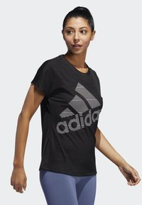 adidas Performance - BADGE OF SPORT T-SHIRT - T-shirts med print - black - 3