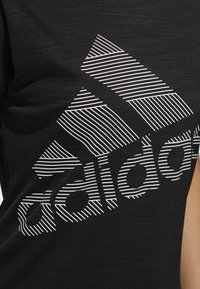 adidas Performance - BADGE OF SPORT T-SHIRT - T-shirts med print - black - 5