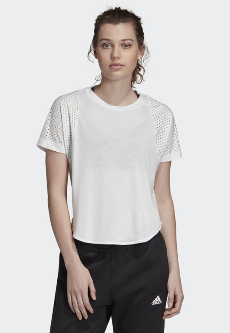 adidas Performance - ID MESH T-SHIRT - Treningsskjorter - white