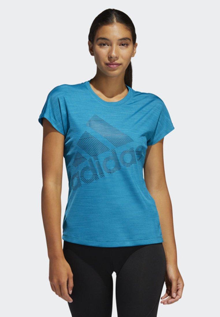 adidas Performance - BADGE OF SPORT T-SHIRT - T-Shirt print - turquoise
