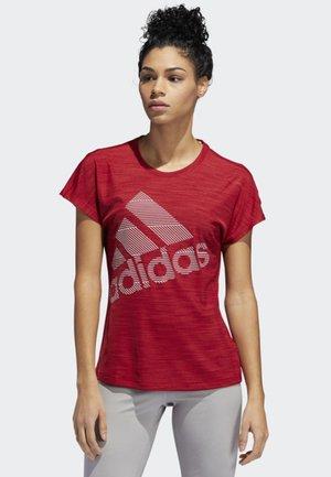 BADGE OF SPORT T-SHIRT - Print T-shirt - red