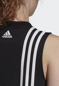 adidas Performance - MUST HAVES 3-STRIPES TANK TOP - Débardeur - black - 3