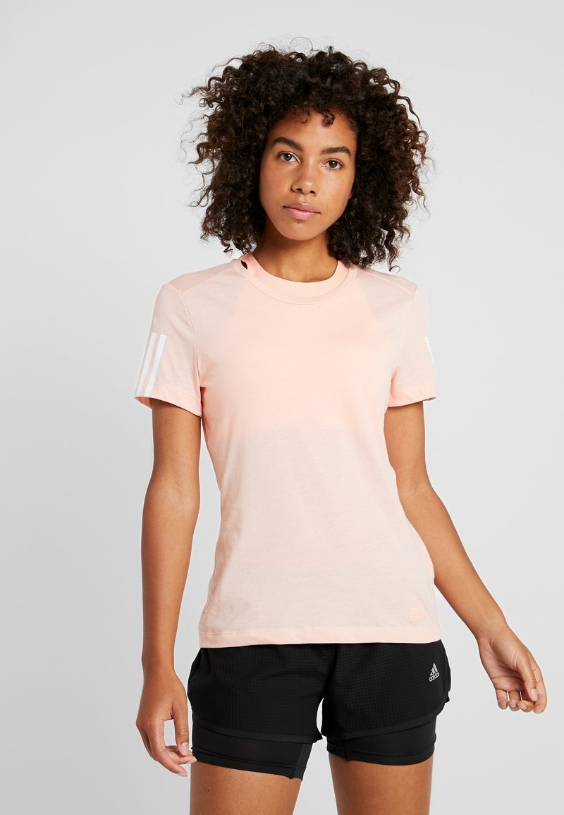 adidas Performance - RUN IT TEE - Printtipaita - glow pink