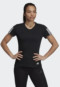 adidas Performance - RUN IT TEE - T-shirt con stampa - black - 0