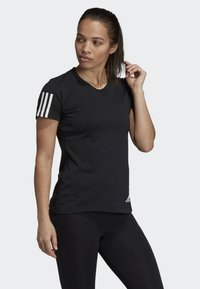 adidas Performance - RUN IT TEE - T-shirt con stampa - black - 3