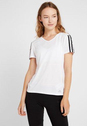RUNNING 3-STRIPES T-SHIRT - Camiseta estampada - white