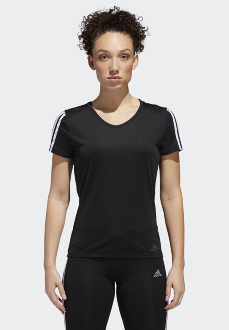 adidas Performance - RUNNING 3-STRIPES T-SHIRT - T-shirt con stampa - black