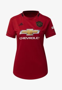 adidas Performance - MANCHESTER UNITED HOME JERSEY - T-shirt med print - red - 7