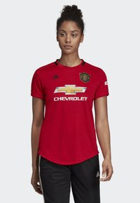 adidas Performance - MANCHESTER UNITED HOME JERSEY - T-shirt med print - red - 0