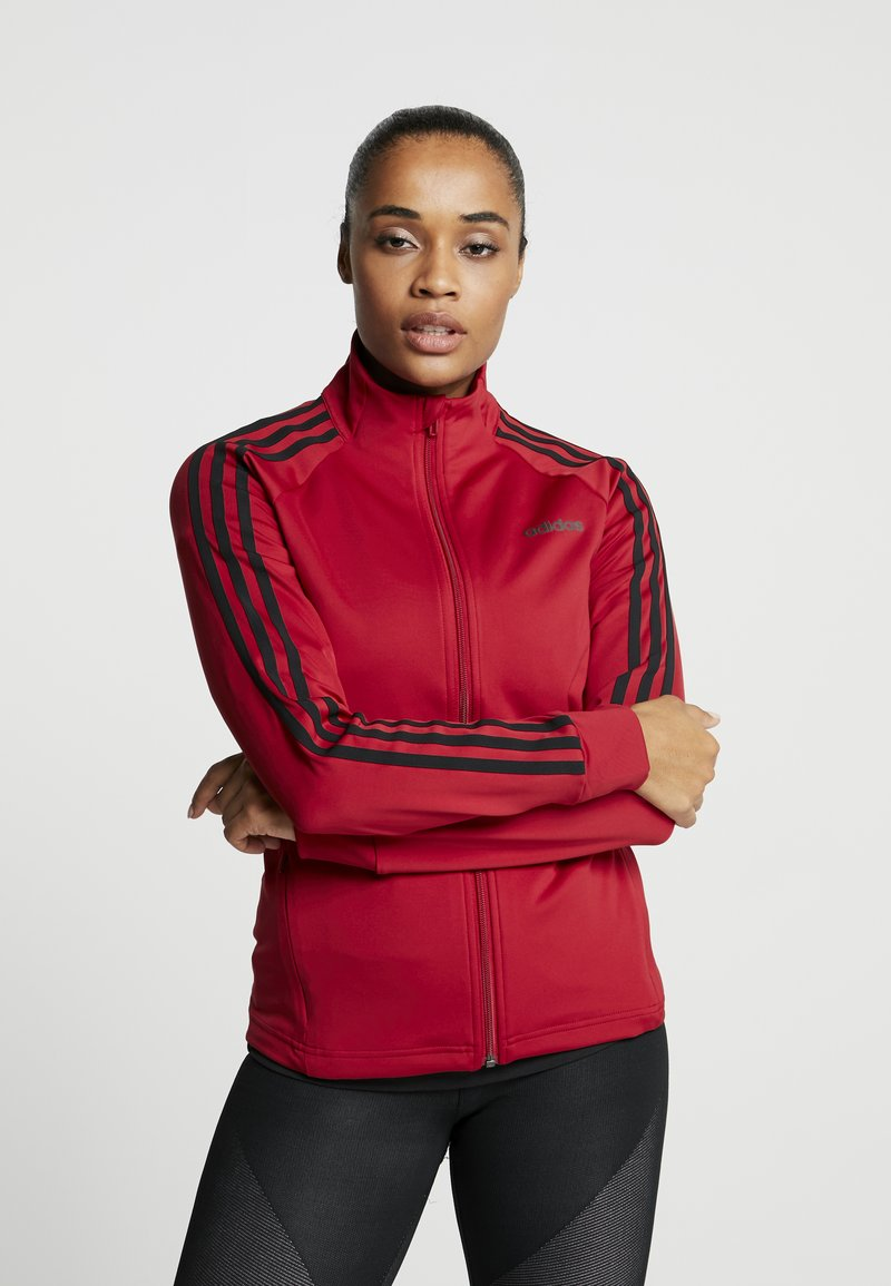 adidas Performance - Treningsjakke - active maroon/black