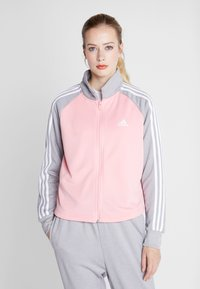 adidas Performance - GAMETIME - Treningsdress - glow pink/medium grey heather - 0
