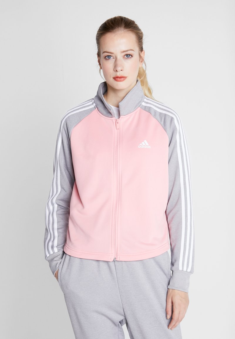 adidas Performance - GAMETIME - Treningsdress - glow pink/medium grey heather