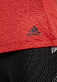 adidas Performance - TANK - Toppi - red melange - 6