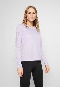 adidas Performance - OWN THE RUN AEROREADY LONG SLEEVE T-SHIRT - Sports shirt - purple - 0
