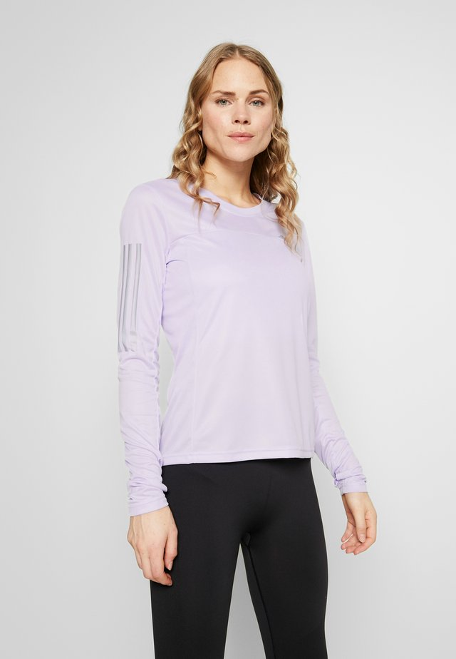 OWN THE RUN AEROREADY LONG SLEEVE T-SHIRT - Funktionströja - purple