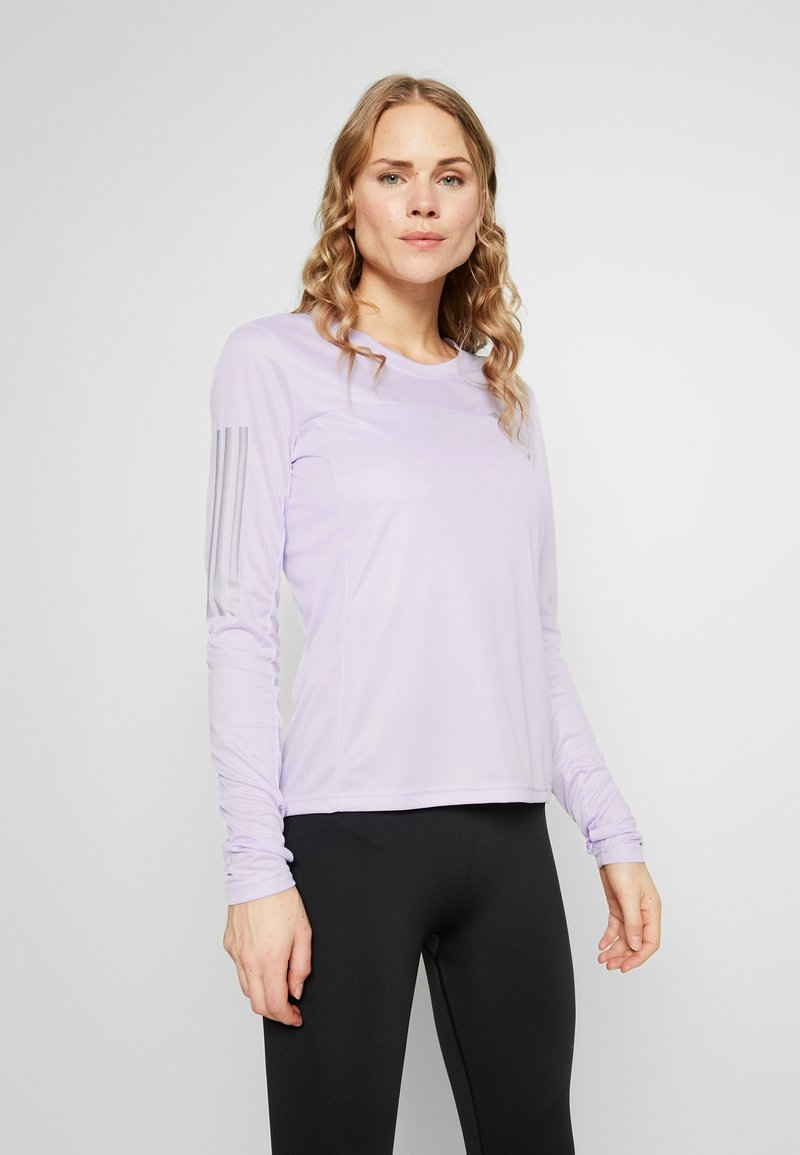 adidas Performance - OWN THE RUN AEROREADY LONG SLEEVE T-SHIRT - Sports shirt - purple