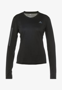adidas Performance - OWN THE RUN AEROREADY LONG SLEEVE T-SHIRT - Tekninen urheilupaita - black - 6