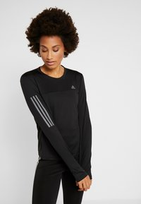 adidas Performance - OWN THE RUN AEROREADY LONG SLEEVE T-SHIRT - Tekninen urheilupaita - black - 0
