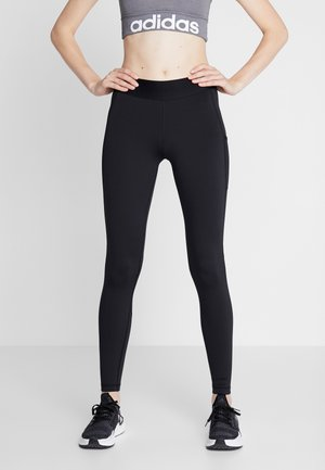ASK LONG - Leggings - black/white