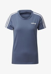 adidas Performance - ESSENTIALS 3-STRIPES T-SHIRT - T-shirt imprimé - blue - 7