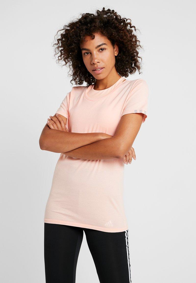 adidas Performance - TEE  - T-shirts - glow pink