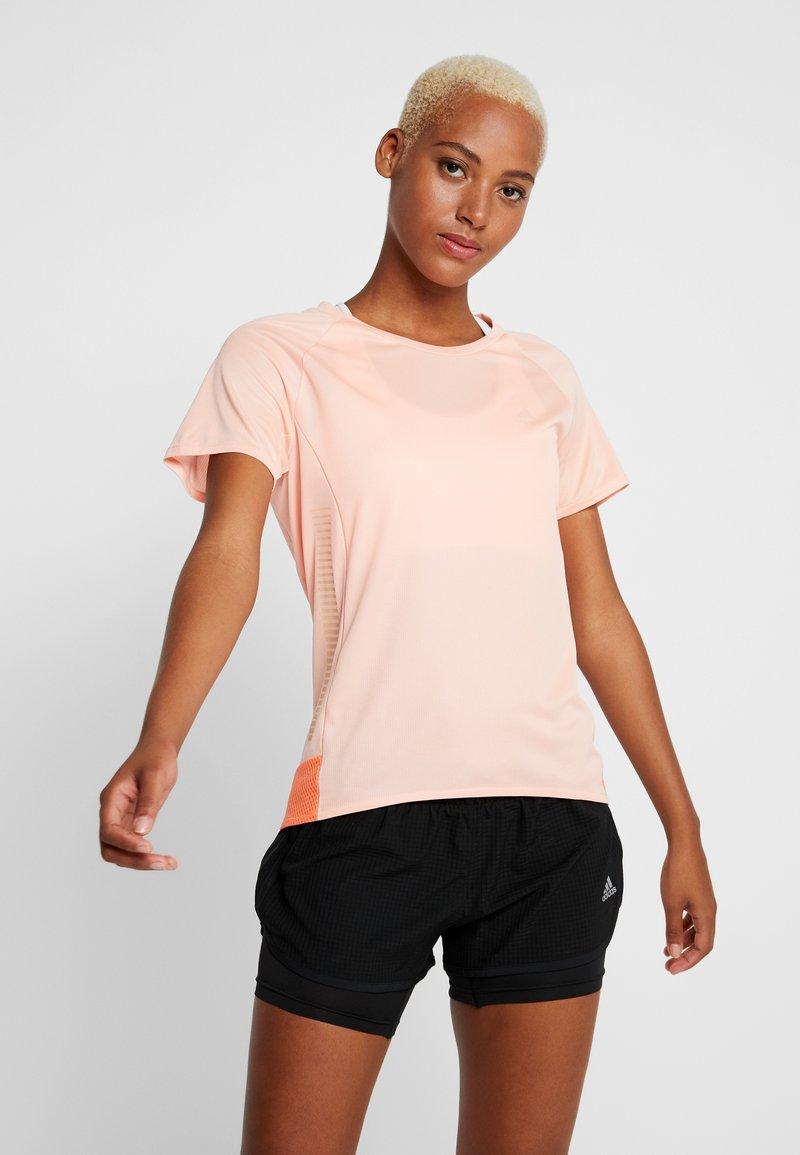 adidas Performance - TEE  - Triko spotiskem - glow pink