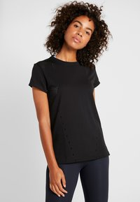 adidas Performance - ENGINEERED TEE - T-shirt z nadrukiem - black - 0