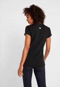 adidas Performance - ENGINEERED TEE - T-shirt z nadrukiem - black - 2