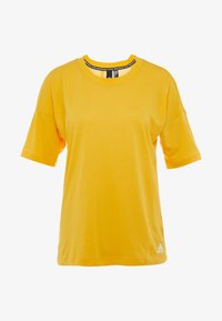 adidas Performance - 3S TEE - T-shirts print - active gold/white - 5