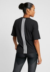 adidas Performance - 3S TEE - Printtipaita - black/white - 2