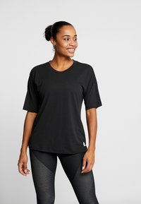 adidas Performance - 3S TEE - Printtipaita - black/white - 0