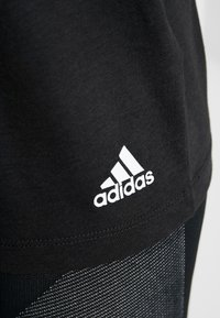 adidas Performance - 3S TEE - Printtipaita - black/white - 5