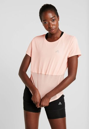 OWN THE RUN TEE - T-shirts med print - glow pink